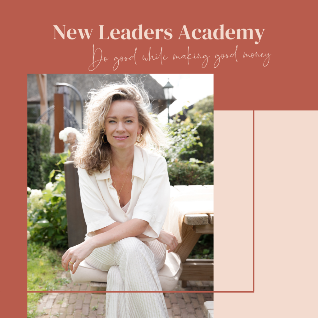 a 6-month business coaching program for purpose-driven entrepreneurs that want to do good while making good money. You'll learn to combine strategy, energy and mindset to transform yourself and take your business to a whole new level.